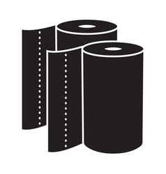 Disposable paper towel flat icon for apps vector