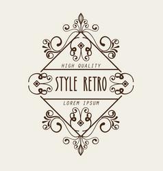 elegant frame style retro vector image