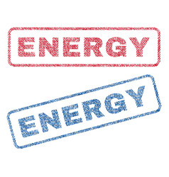 Energy textile stamps vector