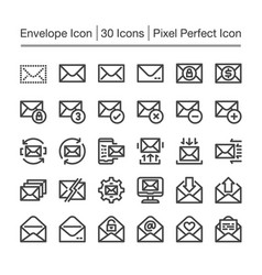 envelope line icon vector image