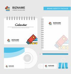 files copy logo calendar template cd cover diary vector image