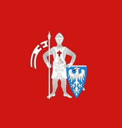 Flag of bamberg in upper bavaria in bavaria vector