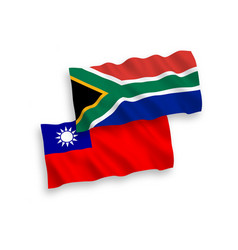 flags taiwan and republic south africa on a vector image