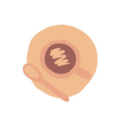 freehand hand drawn sketch coffee cup coffee break vector image
