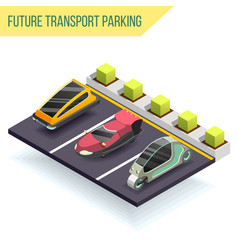 Future transport parking design concept vector