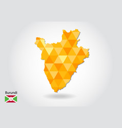 geometric polygonal style map of burundi low poly vector image