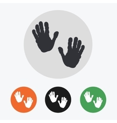 Hand drawn handprints icons set vector image