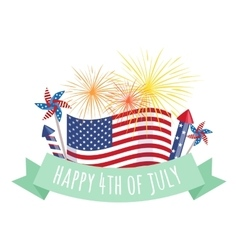 Happy 4th july independence day design vector