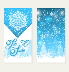 happy winter holidays gift card let it snow vector image