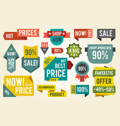 hot price shop set of stickers vector image