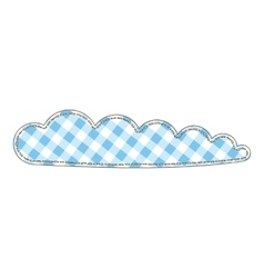 Isolated Patchwork Cloud vector