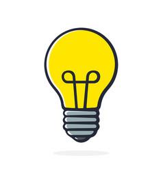 light bulb in pop art style vector image