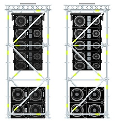 Line array concert acoustics scaffold suspension vector