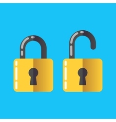 Lock unlock icon password protected vector