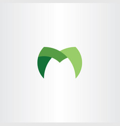 M logotype sign symbol icon green element design vector