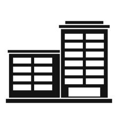 Manufacturing factory building icon simple style vector
