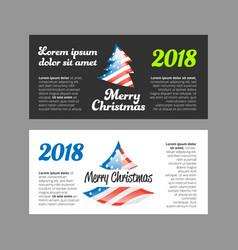 Merry christmas 2018 banner vector