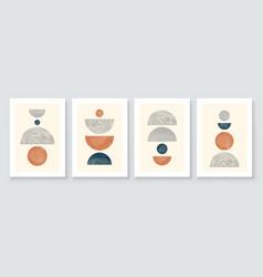 mid century modern design a trendy set of vector image
