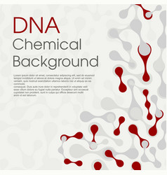 Molecular cell structure background chemical vector