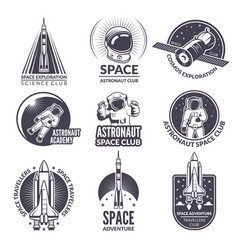 Monochrome of space shuttle and vector