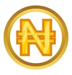 Nigerian naira icon vector image