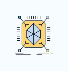 Object prototyping rapid structure 3d flat icon vector