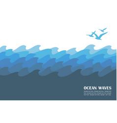 Ocean waves background vector