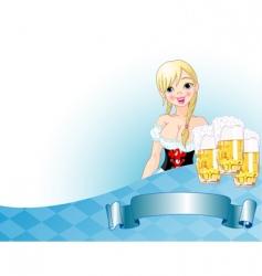 Oktoberfest girl background vector image