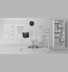 ophthalmologist office interior realistic vector image