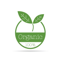 organic icon green color vector image