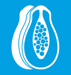 Papaya icon white vector