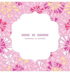 pink abstract triangles circle frame seamless vector image
