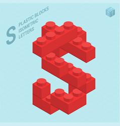 Plastic blocs letter s vector