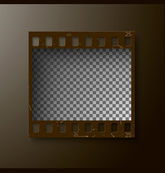 Realistic frame of 35 mm filmstrip empty blanck vector