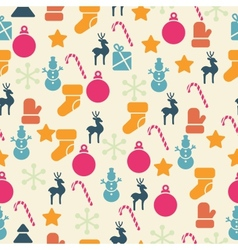 Retro Christmas Seamless Pattern vector image
