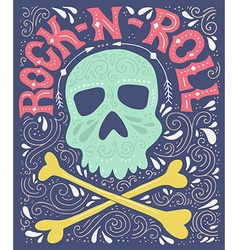 rock-n-roll poster vector image