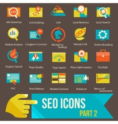 SEO icons set part 2 vector