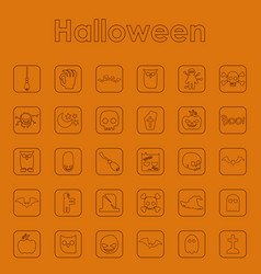 Set of halloween simple icons vector