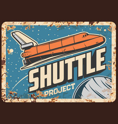 Shuttle project rusty plate expedition vector