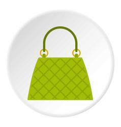 small woman bag icon circle vector image