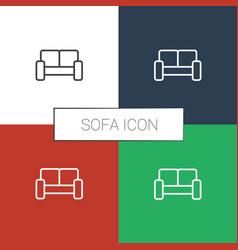 Sofa icon white background vector