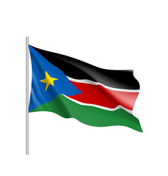 south sudan flag vector image
