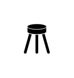 Stool flat icon vector