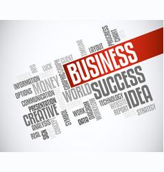 success business idea marketing word cloud concept vector image