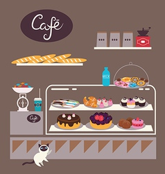 Sweets cafe vector