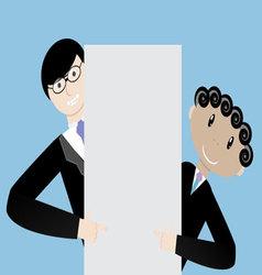 Team businessmen presentation vector image