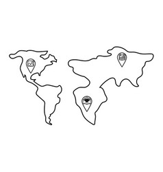 Technology web gps locations vector