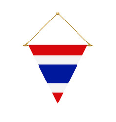 Thai triangle flag hanging vector