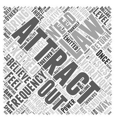 the law attraction and physics word cloud vector image
