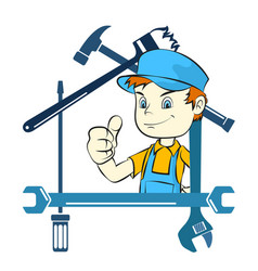 Tool and repairman vector
